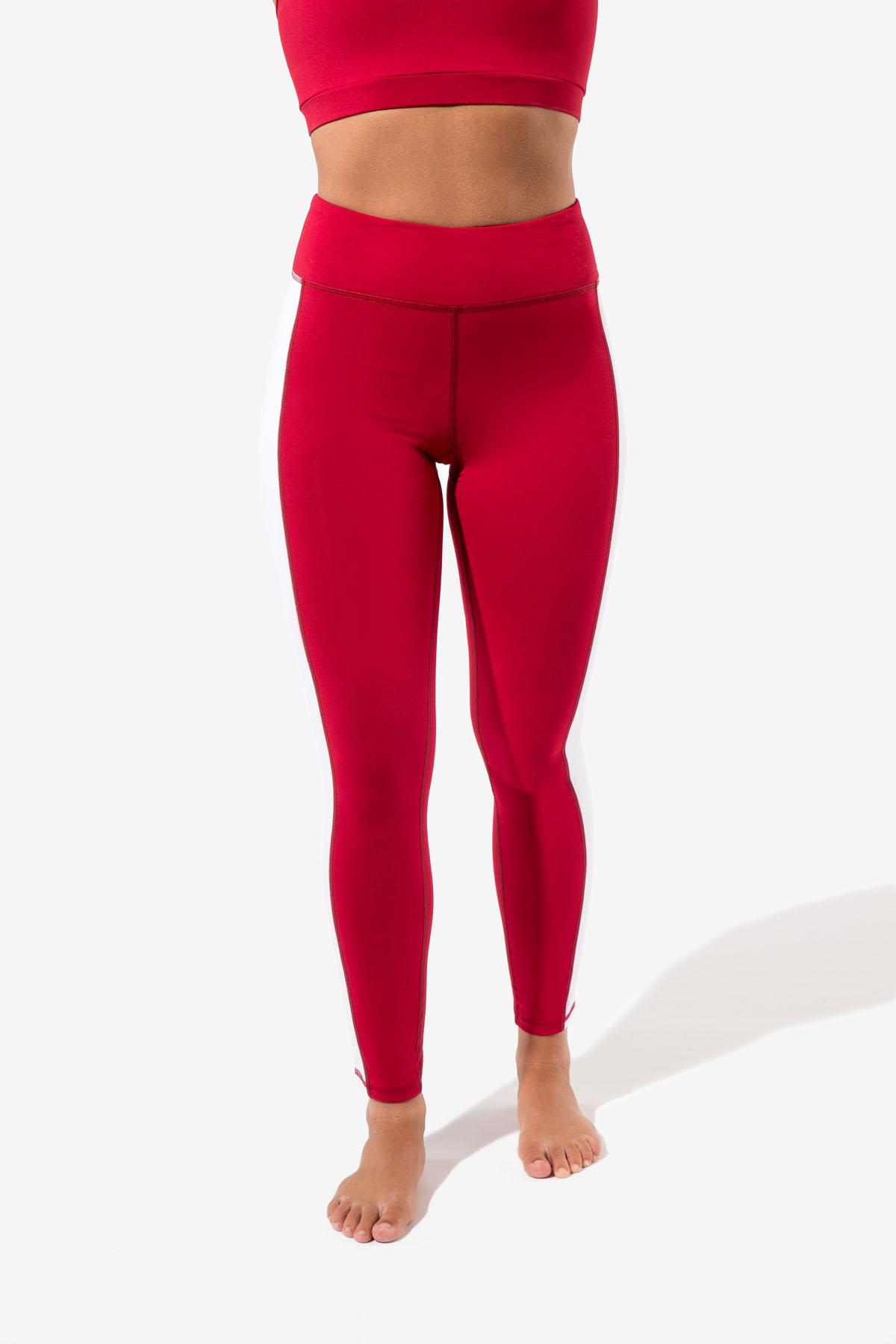 ac3bb2c849fa9 Cetara Side Panel Leggings – Red   White – Certo Apparel – Leggings ...